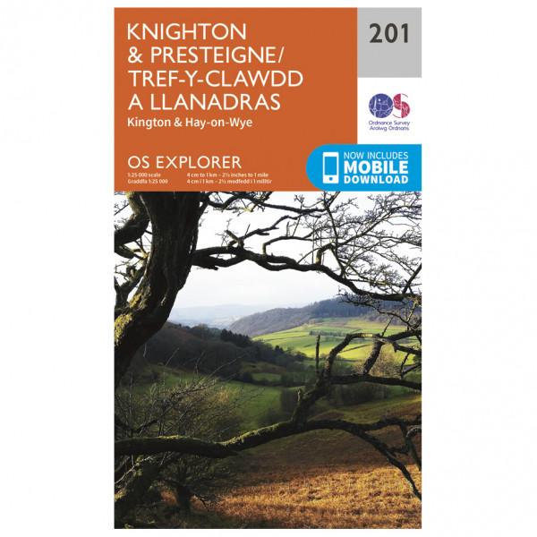 Ordnance Survey - Knighton / Presteigne EXP201 - Wanderkarte