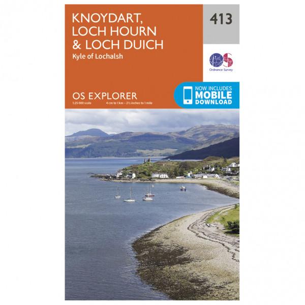 Ordnance Survey - Knoydart / Loch Hourn / Loch Duich EXP413 - Wanderkarte