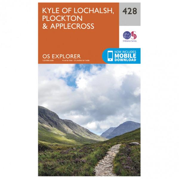 Ordnance Survey - Kyle Of Lochalsh / Plockton / Applecross - Hiking map