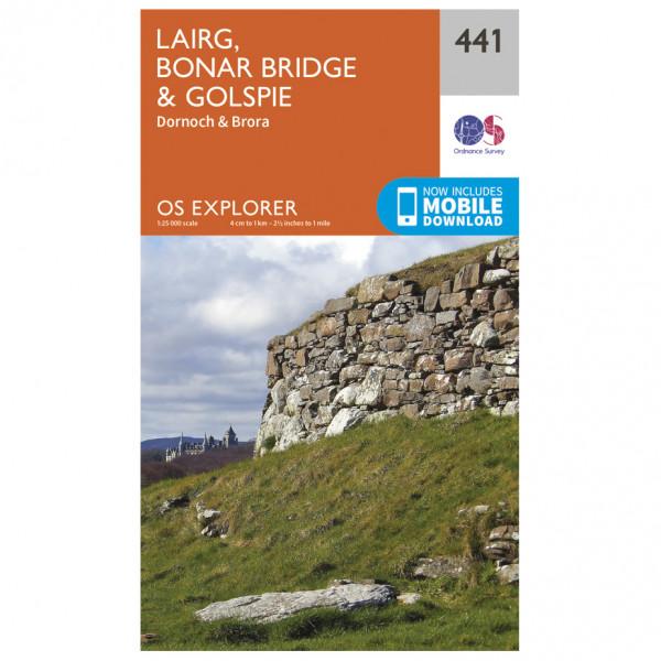 Ordnance Survey - Lairg / Bonar Bridge / Golspie - Carte de randonnée