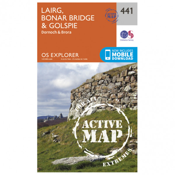 Ordnance Survey - Lairg / Bonar Bridge / Golspie Waterproof - Vandrekort