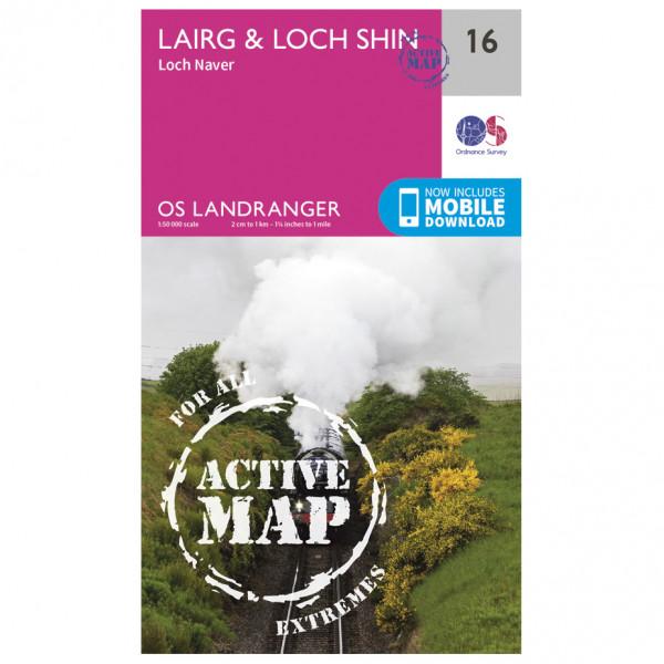Ordnance Survey - Lairg / Loch Shin Waterproof - Hiking map