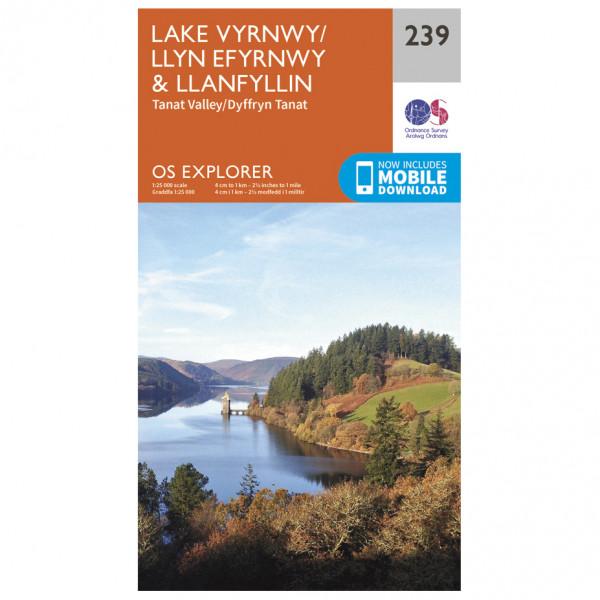 Ordnance Survey - Lake Vyrnwy / Efyrnwy - Vandringskartor
