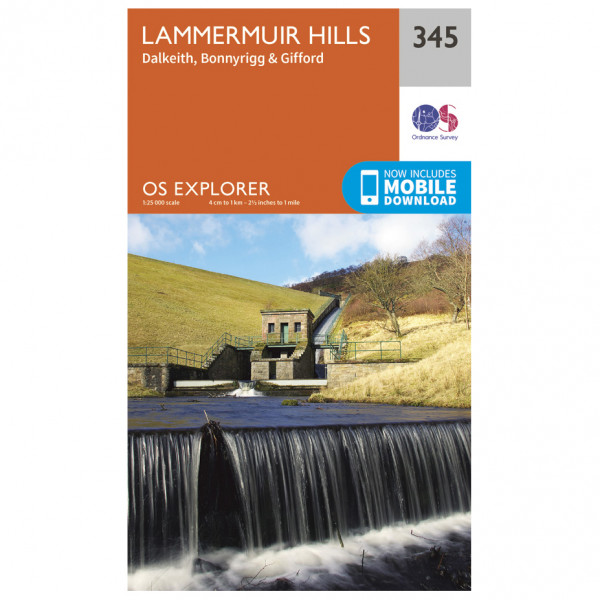 Ordnance Survey - Lammermuir Hills EXP345 - Wanderkarte