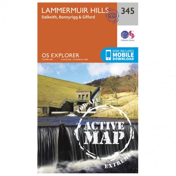 Ordnance Survey - Lammermuir Hills Waterproof - Vandrekort