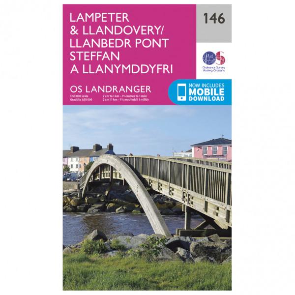 Ordnance Survey - Lampeter / Llandovery - Vandrekort