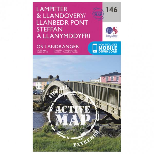 Ordnance Survey - Lampeter / Llandovery Waterproof - Vandrekort