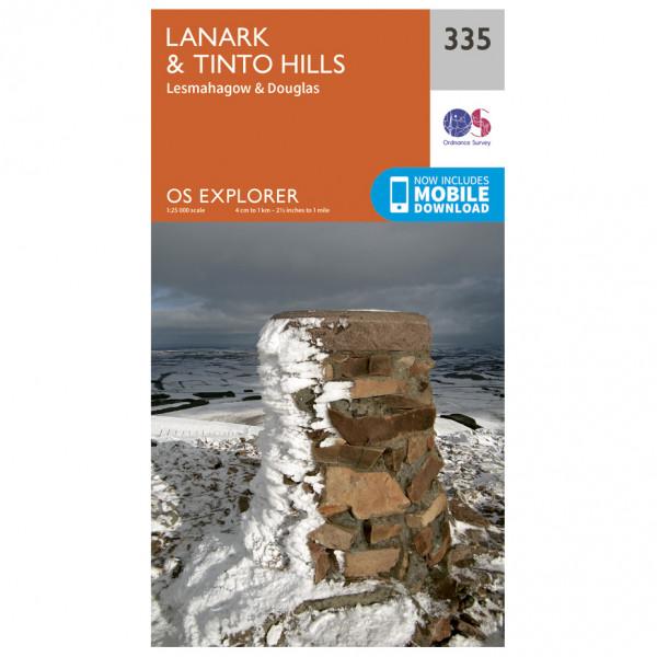 Ordnance Survey - Lanark / Tinto Hills - Hiking map