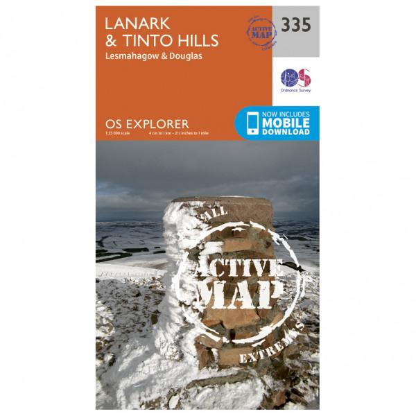 Ordnance Survey - Lanark / Tinto Hills Waterproof EXPL335 - Wanderkarte