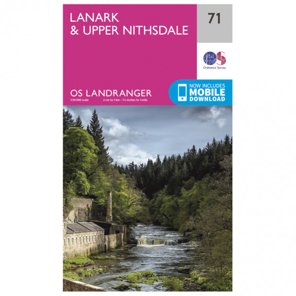 Ordnance Survey - Lanark / Upper Nithsdale - Vandrekort