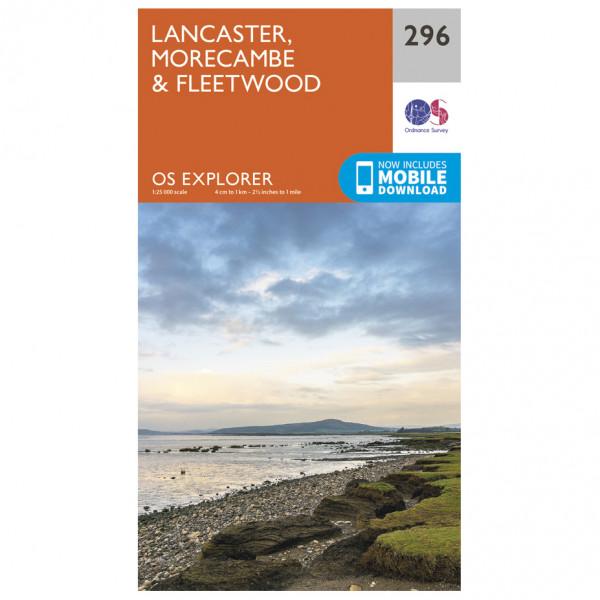 Ordnance Survey - Lancaster / Morecambe / Fleetwood - Vandrekort