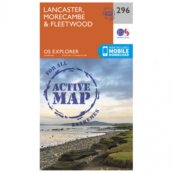 Ordnance Survey - Lancaster / Morecambe / Fleetwood Waterproof - Vaelluskartat