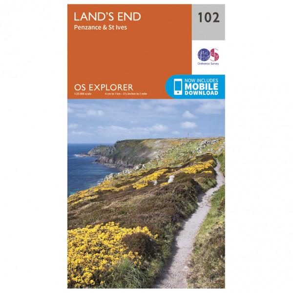 Ordnance Survey - Land's End - Vandrekort
