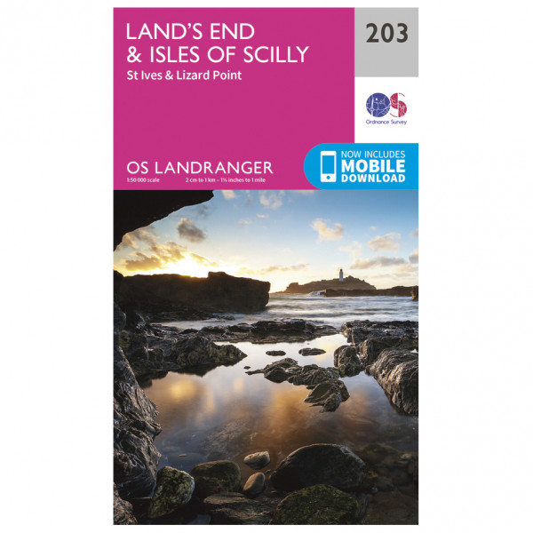 Ordnance Survey - Land's End / Isles Of Scilly - Hiking map