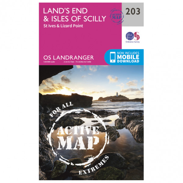 Ordnance Survey - Land's End / Isles Of Scilly Waterproof - Wandelkaart