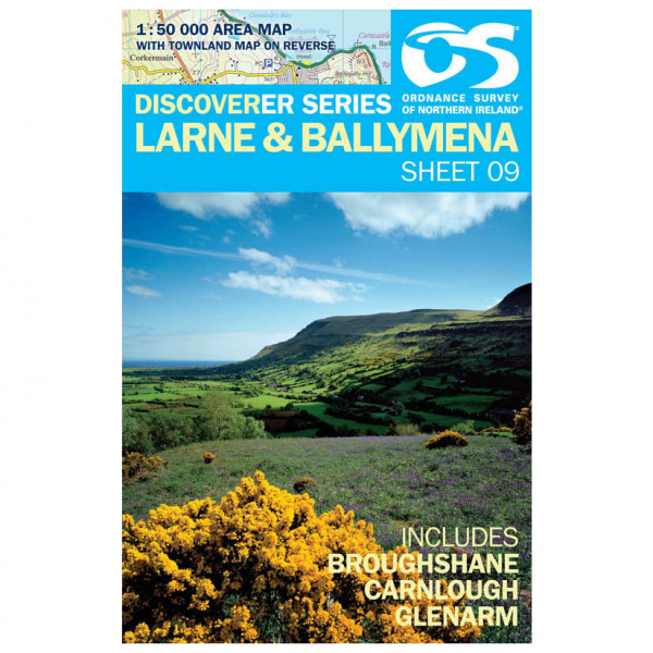 Ordnance Survey - Larne - Vandrekort