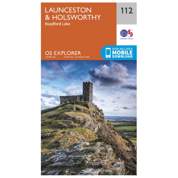 Ordnance Survey - Launceston / Holsworthy - Vandrekort