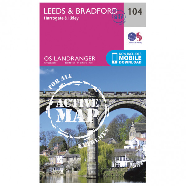 Ordnance Survey - Leeds / Bradford - Harrogate / Ilkley Waterproof - Hiking map