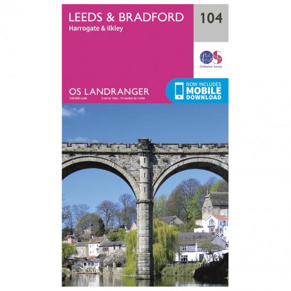 Ordnance Survey - Leeds / Bradford / Harrogate / Ilkley L104 - Wanderkarte