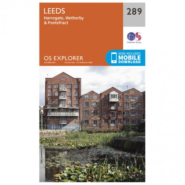 Ordnance Survey - Leeds / Harrogate / Wetherby / Pontefract EXP289 - Wanderkarte