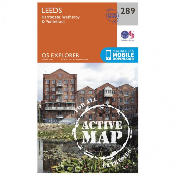 Ordnance Survey - Leeds / Harrogate / Wetherby / Pontefract Waterproof - Vandrekort