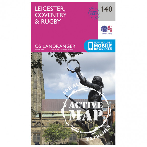 Ordnance Survey - Leicester / Coventry / Rugby Waterproof - Mapa de senderos