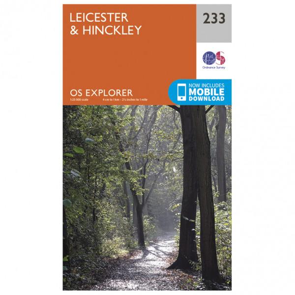 Ordnance Survey - Leicester / Hinckley - Vandrekort
