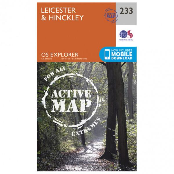 Ordnance Survey - Leicester / Hinckley Waterproof - Vaelluskartat