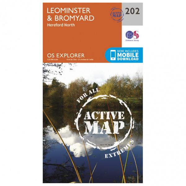 Ordnance Survey - Leominster / Bromyard Waterproof - Vaelluskartat