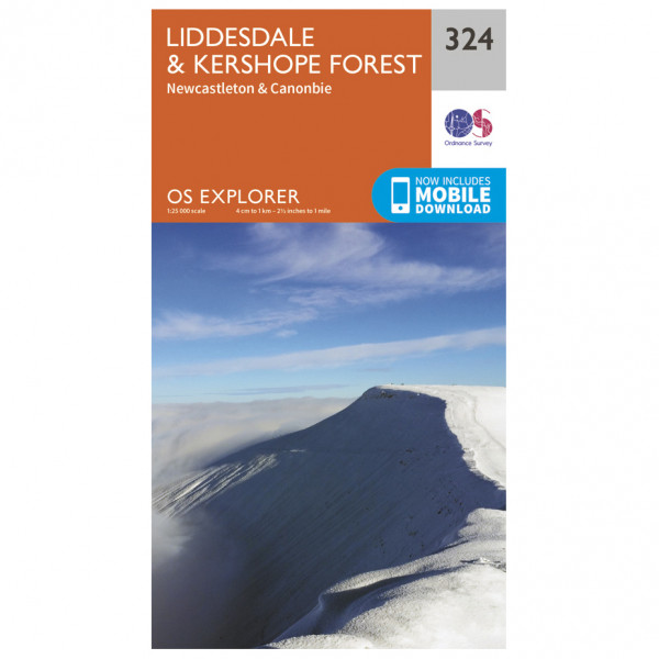 Ordnance Survey - Liddesdale / Kershope Forest - Hiking map
