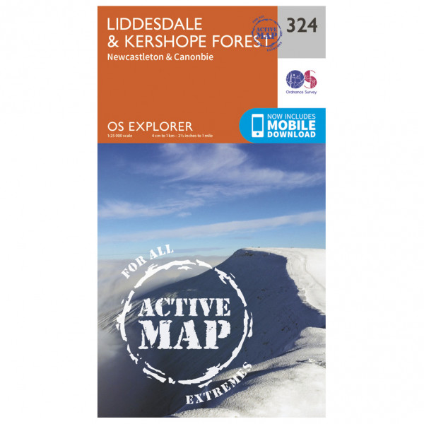 Ordnance Survey - Liddesdale / Kershope Forest Waterproof - Hiking map