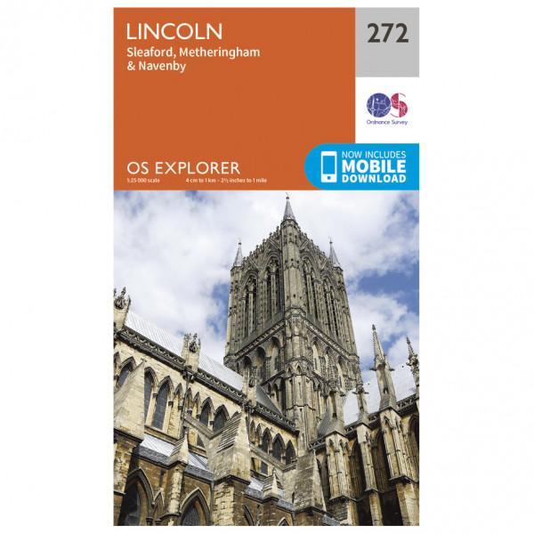 Ordnance Survey - Lincoln EXP272 - Wanderkarte