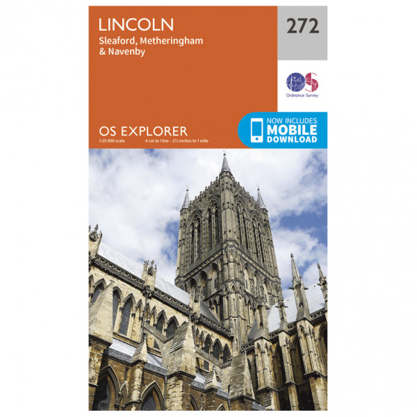 Ordnance Survey - Lincoln - Vandrekort
