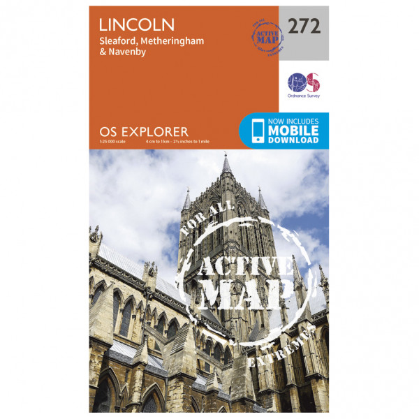 Ordnance Survey - Lincoln Waterproof - Vandrekort