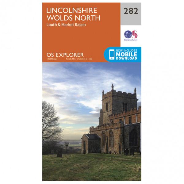 Ordnance Survey - Lincolnshire Wolds North - Wandelkaart