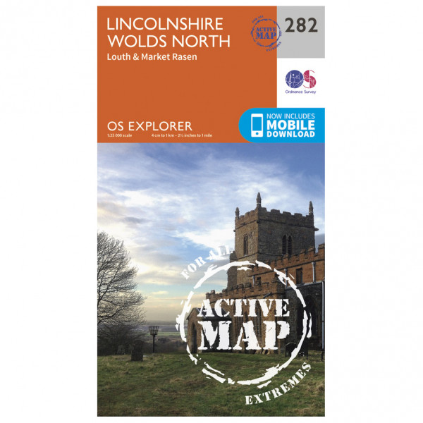 Ordnance Survey - Lincolnshire Wolds North Waterproof - Hiking map