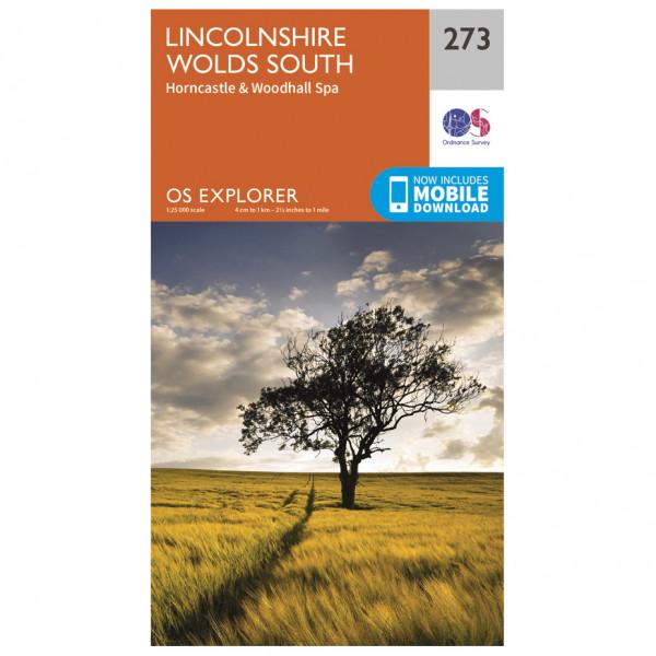 Ordnance Survey - Lincolnshire Wolds South - Vandringskartor