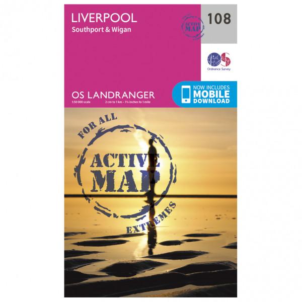 Ordnance Survey - Liverpool / Southport / Wigan Waterproof - Vandringskartor