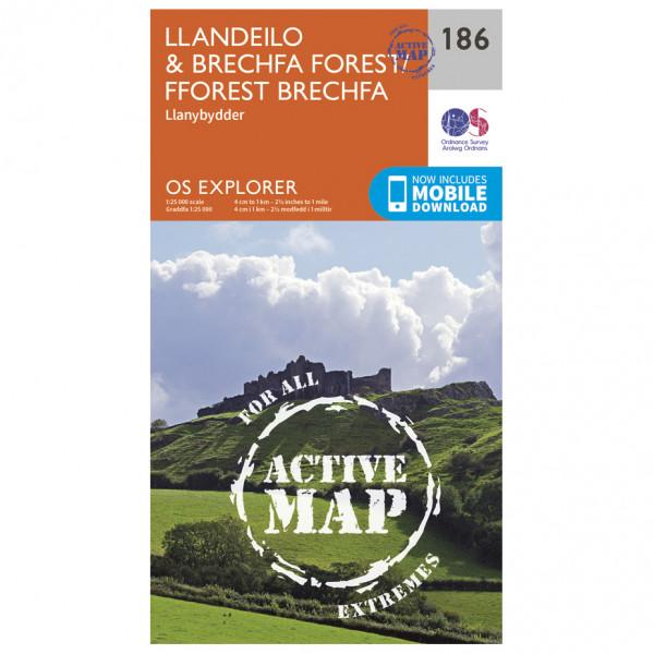 Ordnance Survey - Llandeilo / Brechfa Forest Waterproof - Wandelkaart