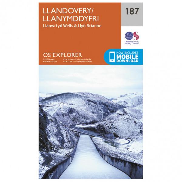Ordnance Survey - Llandovery - Mapa de senderos