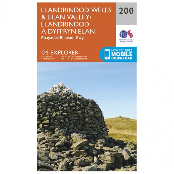 Ordnance Survey - Llandrindod Wells / Elan Valley - Mapa de senderos