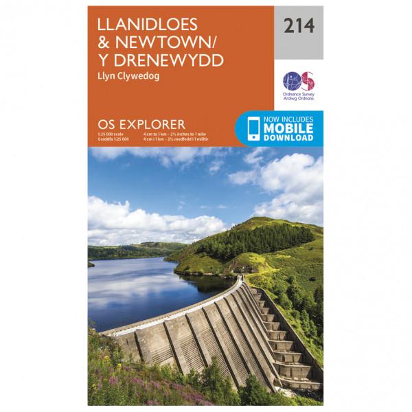 Ordnance Survey - Llanidloes / Newtown / Y Drenewydd - Vandrekort