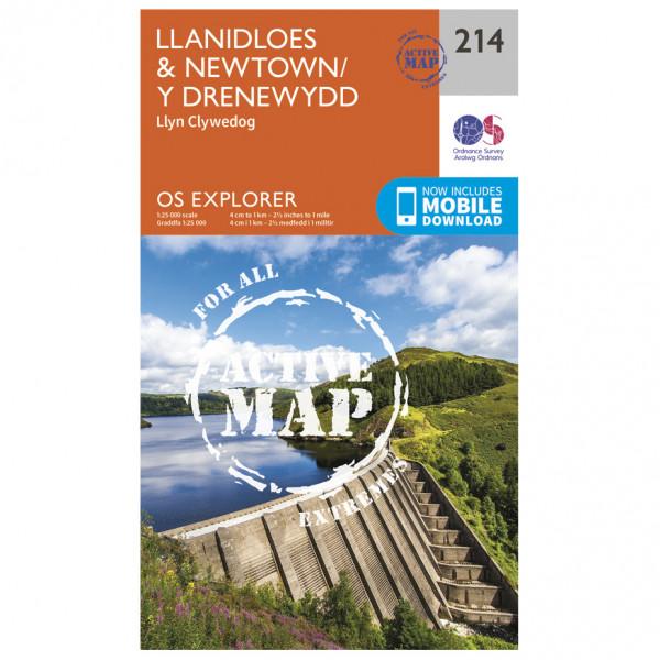 Ordnance Survey - Llanidloes / Newtown / Y Drenewydd Waterproof - Vandrekort