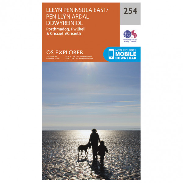 Ordnance Survey - Lleyn Peninsula East - Hiking map