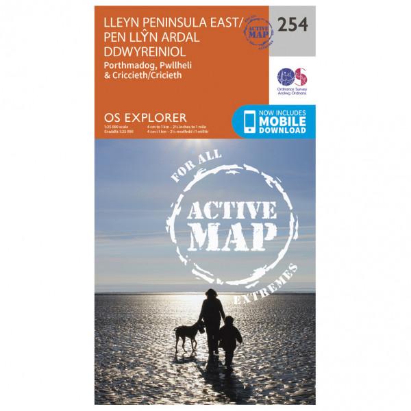 Ordnance Survey - Lleyn Peninsular Eas T/ Pen Llyn Ardal Ddwyre Waterproof - Hiking map