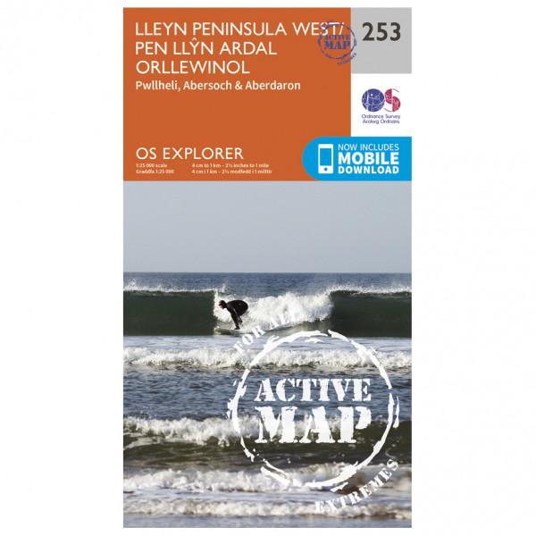 Ordnance Survey - Lleyn Penionsular / Pen Llyn Ardal Orllewinol. Waterproof - Hiking map
