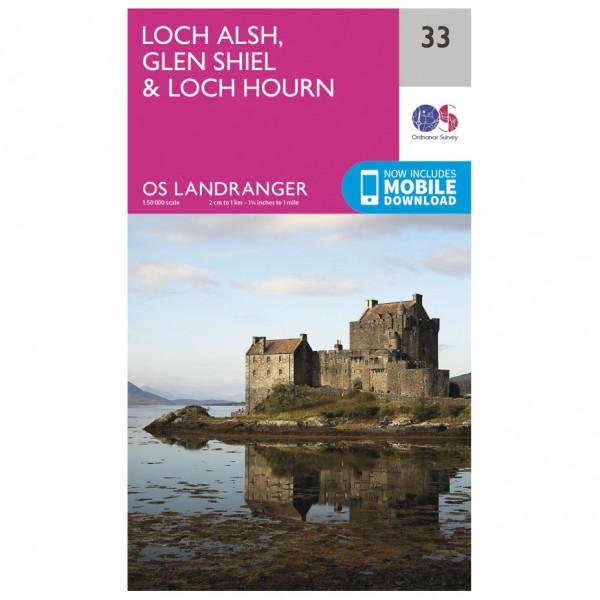 Ordnance Survey - Loch Alsh / Glen Shiel / Loch Hourn L033 - Wanderkarte