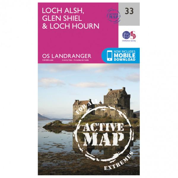Ordnance Survey - Loch Alsh / Glen Shiel / Loch Hourn Waterproof - Turkart