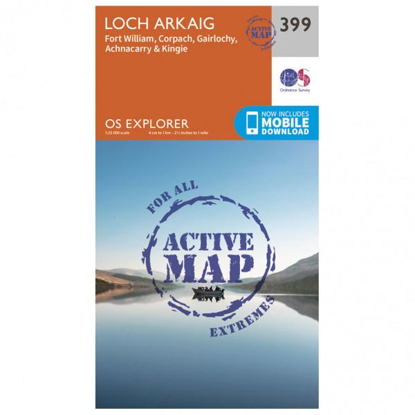 Ordnance Survey - Loch Arkaig Waterproof - Hiking map