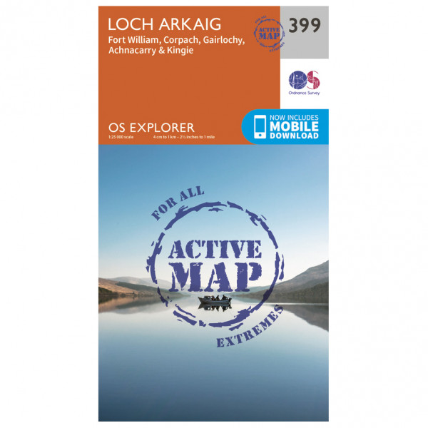 Ordnance Survey - Loch Arkaig Waterproof - Wandelkaart